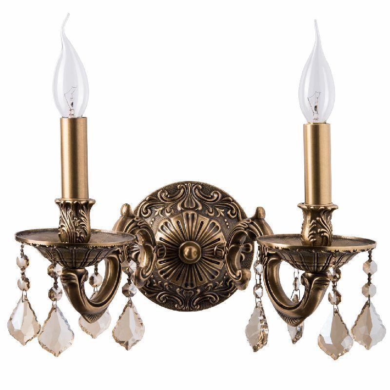 Applique baroque à pampilles laiton 2 éclairages - Luminaires ...