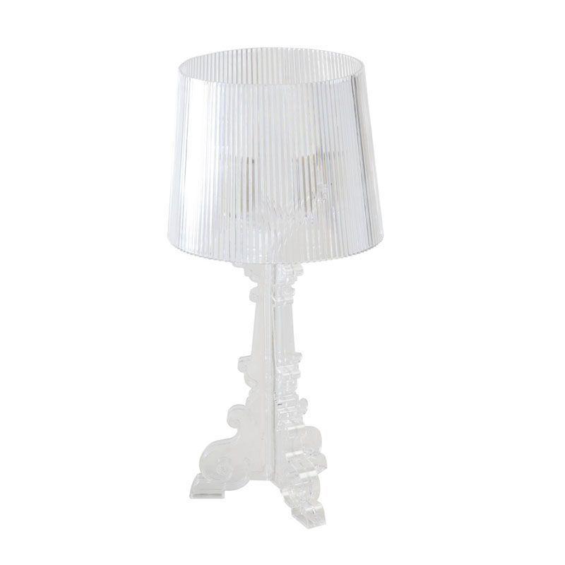 Lampe de chevet plastique transparent style baroque regenbogen - Table de chevet transparente ...