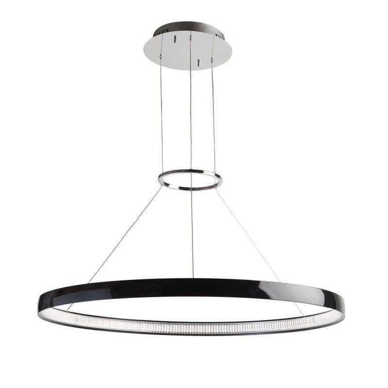 Lustre led rond design m tal noir regenbogen for Lustre en metal noir