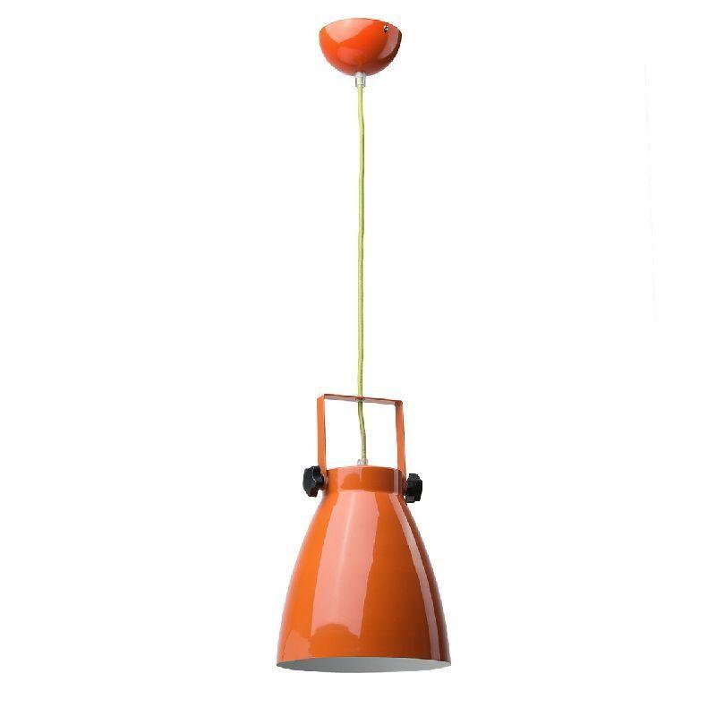 suspension m tal orange luminaires. Black Bedroom Furniture Sets. Home Design Ideas