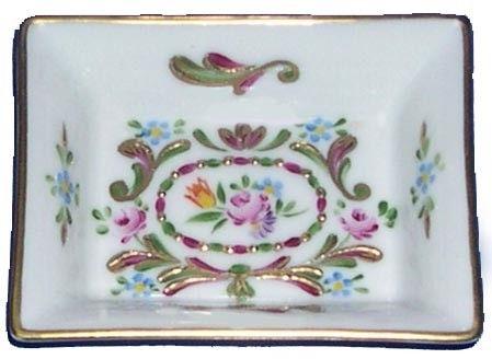 Vide poches porcelaine de limoges rectangulaire for Linge de maison limoges