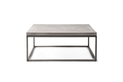table basse b ton et m tal perspective 75x75x27 mobilier. Black Bedroom Furniture Sets. Home Design Ideas