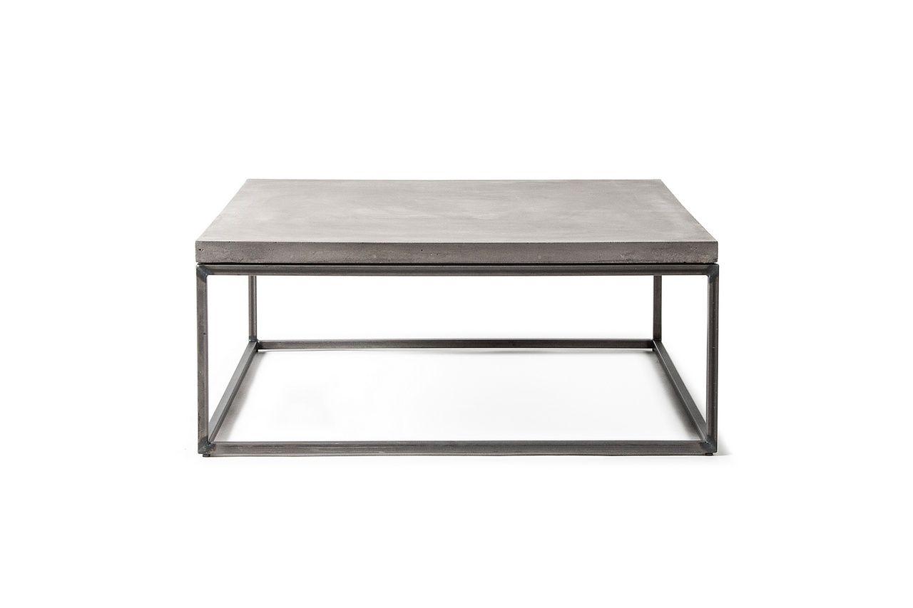 table basse b ton et m tal perspective 75x75x27 lyon b ton. Black Bedroom Furniture Sets. Home Design Ideas