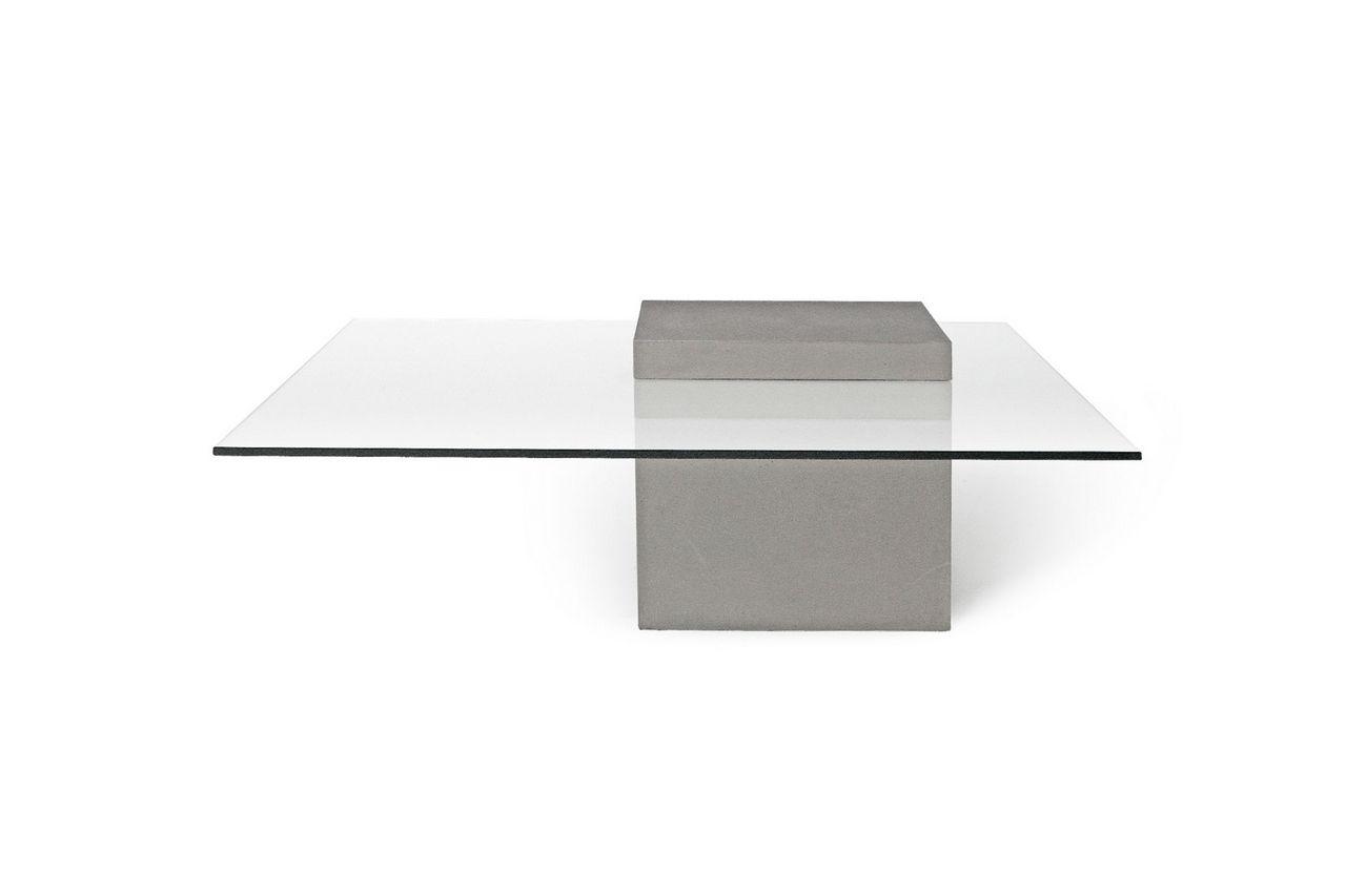 table basse b ton et verre tremp verveine mobilier. Black Bedroom Furniture Sets. Home Design Ideas