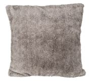 Coussin Vanoise polyester imitation fourrure coloris Taupe 45x45 - Toison d'Or