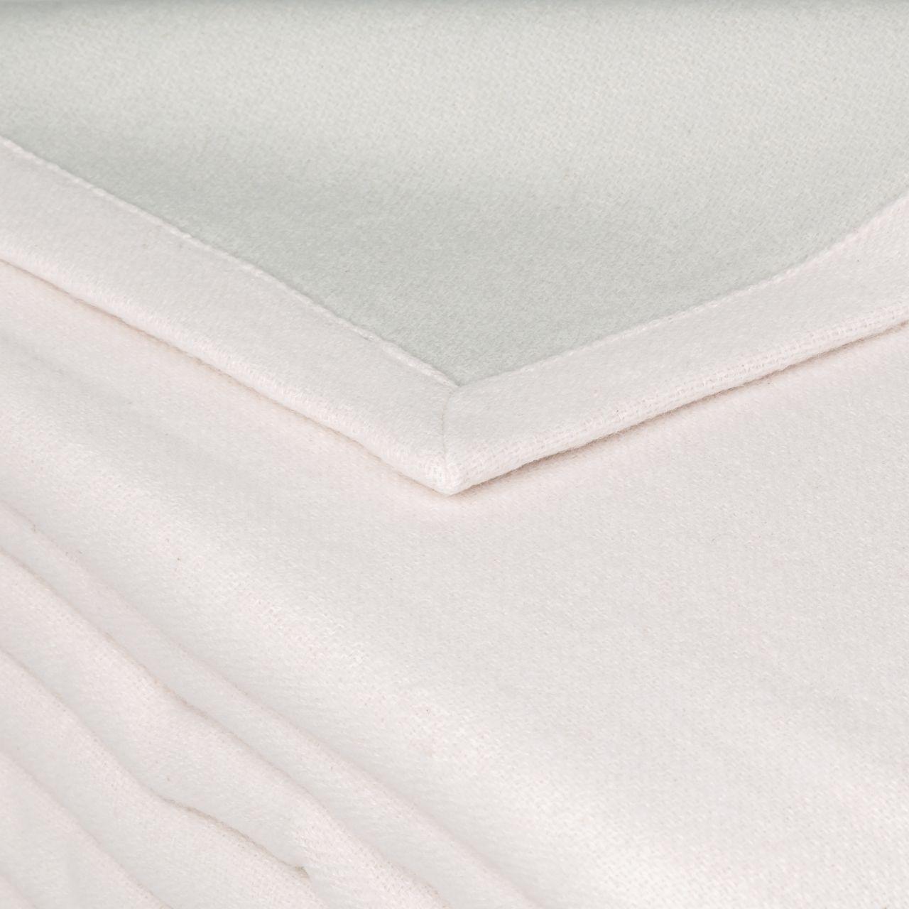 Couverture Provence Coton Reversible Rose Poudre Gris Perle 180x240