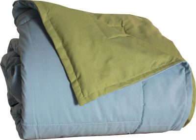 jet de lit microfibre bicolore frisbee bleu glacier pistache 160x240 linge de maison. Black Bedroom Furniture Sets. Home Design Ideas