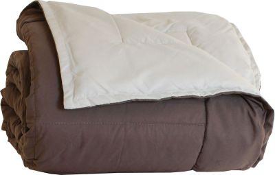 jet de lit microfibre bicolore frisbee taupe cr me 240x260 linge de maison. Black Bedroom Furniture Sets. Home Design Ideas