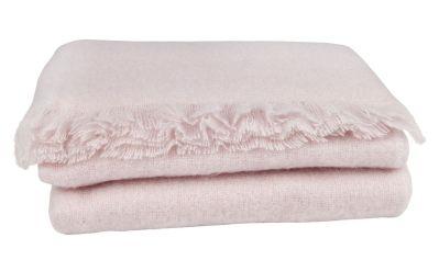 plaid th s e mohair franges uni rose poudr 130x170. Black Bedroom Furniture Sets. Home Design Ideas
