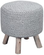Housse de Tabouret Montana Gris 40x40x40 - The Rug Republic