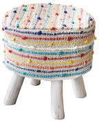 Housse de tabouret Barries Multicolore 40x40x40 - The Rug Republic