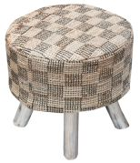Housse de tabouret Diori Naturel 40x40x40 - The Rug Republic