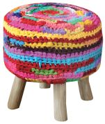 Housse de tabouret Neon Multico 40x40x40 - The Rug Republic