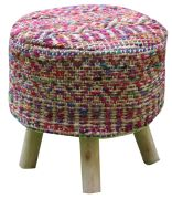 Housse de tabouret Sarah Multicolore 40x40 - The Rug Republic