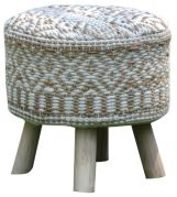 Housse de tabouret Sarah Naturel 40x40 - The Rug Republic