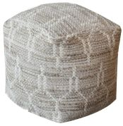 Pouf Alona Chanvre/Coton 40x40x40 - The Rug Republic