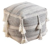 Pouf Gustel Laine/Coton 40x40x40 - The Rug Republic