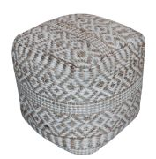 Pouf Sarah Chanvre/Laine/Coton 40x40x40 - The Rug Republic