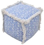 Pouf carré Baotou 100% Coton 40x40x40 - The Rug Republic