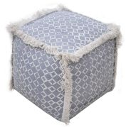 Pouf carré Beluch 100% Coton 40x40x40 - The Rug Republic