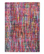Tapis Almonte rayures multicolores coton recyclé 180x120 - The Rug Republic