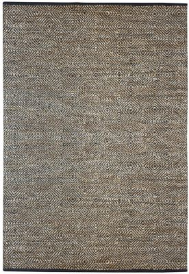 Tapis Arauca Cuir/Coton 180x120 - The Rug Republic