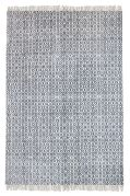 Tapis Bundi tissé main coton stonewashed gris 160x230 - The Rug Republic
