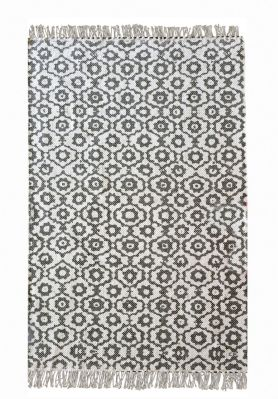 tapis bundi tiss main coton stonewashed gris 60x90 d coration. Black Bedroom Furniture Sets. Home Design Ideas