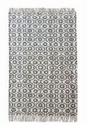 Tapis Bundi tissé main coton stonewashed gris 60x90 - The Rug Republic