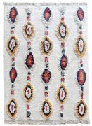 Tapis Dorrigo tufté main en coton coloris ivoire/multi 120x180 - The Rug Republic