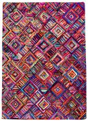 Tapis Edmund coton recyclé coloris multicolore 120x180 - The Rug Republic
