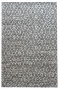 Tapis Flair tissé main en chanvre naturel/noir 120x180 - The Rug Republic
