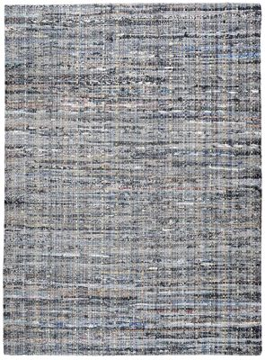 Tapis Harris 100% Coton recyclé gris/bleu 90x60 - The Rug Republic