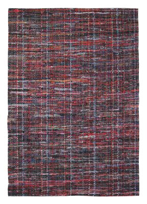 Tapis Harris rouge coton recyclé 230x160 - The Rug Republic