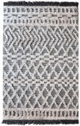 Tapis Heino tissé main en laine coloris ivoire/charbon 230x160 - The Rug Republic