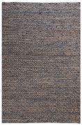 Tapis Ikary tissé main chanvre/coton multicolore gris 230x160 - The Rug Republic