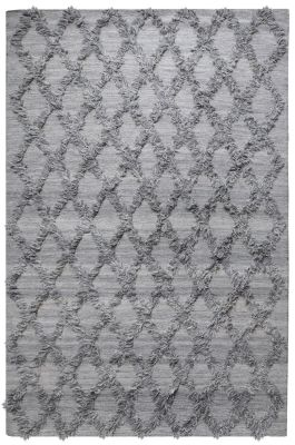 Tapis Jucar tissé main laine grey 160x230 - The Rug Republic