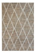 Tapis Larson Chanvre/Laine ivoire 180x120 - The Rug Republic
