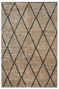 Tapis Larson tissé main chanvre/laine coloris charbon 120x180 - The Rug Republic