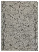 Tapis Léonie tissé main cuir/coton coloris taupe 160x230 - The Rug Republic