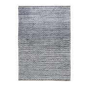 Tapis Osage charbon chanvre/coton 230x160 - The Rug Republic