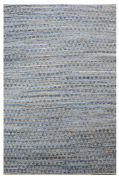 Tapis Prism bleu denim motifs triangles jute et coton 180x120 - The Rug Republic