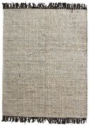 Tapis Rohns tissé main en chanvre coloris gris 160x230 - The Rug Republic