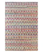 Tapis Saige tissé main coton recyclé/chanvre multicolore 230x160 - The Rug Republic