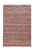 Tapis Sarah tissé main fibres naturelles recyclées multicolore 120x180 - The Rug Republic