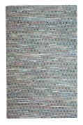 Tapis Soren tissé main chanvre/cuir recyclé multicolore 160x230 - The Rug Republic
