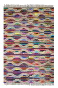 Tapis Zurich motifs indiens multicolore chanvre et coton recyclés 230x160 - The Rug Republic