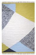 Tapis laine effet patchwork Felipe couleurs pastel 230x160 - The Rug Republic