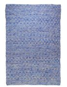 Tapis tendance scandinave Pasadena indigo chanvre et coton 180x120 - The Rug Republic