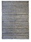 Tapis tendance scandinave Pasadena noir chanvre et coton 230x160 - The Rug Republic